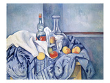 Still-Life with Peaches and Bottles Giclee Print by Paul Cézanne