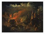 Naechtliche Feuersbrunst Im Dorf Giclee Print by I.M. Tonkow