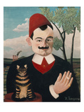 Portrait of Pierre Loti, about 1910 Giclee Print by Henri Rousseau