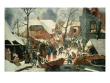 Adoration of the Magi in the Snow Giclee Print by Pieter Brueghel the Younger