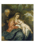 Rest on the Flight into Egypt Prints by Anthonis van Dyck