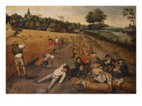 Summer: Harvesters Working and Eating in a Cornfield, 1624 Poster by Pieter Brueghel the Younger