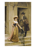 My Next-Door Neighbour, 1894 Prints by Edmund Blair Leighton