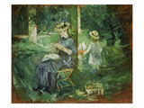 Woman and Child in a Garden, 1884 Giclee Print by Berthe Morisot