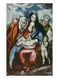 The Holy Family with Saint Anne and the Infant John the Baptist, about 1595/1600 Poster by  El Greco