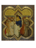 St. Francis' Trial by Fire, about 1340 Giclee Print by Taddeo Gaddi