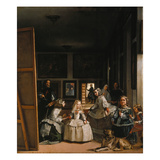Las Meninas (The Courtladies) Giclee Print by Diego Vel&#225;zquez