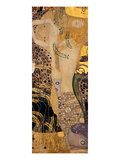 Water Snakes I., 1904-1907 Lmina gicle por Gustav Klimt