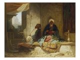 Two Turks in a Coffee House Gicléetryck av Carl Spitzweg