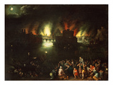 The Burning of Troy Giclee Print by Jan Brueghel the Elder