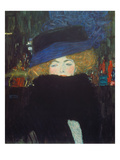 Lady with Hat and Feather Boa, 1909 Reproduction procédé giclée par Gustav Klimt