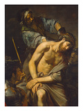 Crowning with Thorns and Christ's Passion, about 1625 Giclee Print by Valentin Boullogne