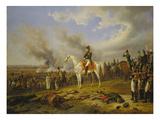 Napoleon Approaching Regensburg, 1840 Giclee Print by Albrecht Adam