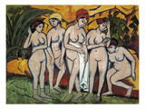 Woman Bathing, 1911 Art by Ernst Ludwig Kirchner