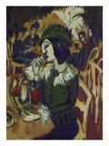 Green Lady in the Garden Café, 1912 Giclee Print by Ernst Ludwig Kirchner
