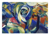 The Mandrill, 1913 Prints by Franz Marc