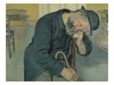 Enttaeuschte Seele, 1891. (Alter Mann) Posters by Ferdinand Hodler