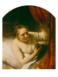 Sarah Expects Tobias in the Wedding Night, 164(.) Giclee Print by  Rembrandt van Rijn