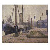 The Mary in the Port of Honfleur, 1886 Print by Georges Seurat