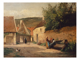 Streetcorner in the Village Giclee Print by Camille Pissarro