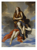 Mary of Egypt Carried by Angels Giclee Print by Guido Cagnacci