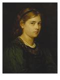 Portrait of a Girl, 1876 Giclée-Druck von Franz Von Defregger
