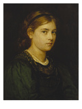 Portrait of a Girl, 1876 Giclee Print by Franz Von Defregger