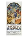 Plakat Fuer Das Historienspiel Slawische Bruederlichkeit Zum 8. Sokol-Treff, Prag 1926 Print by Alphonse Mucha