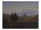 Memories of Palermo. (Raphael and Michelangelo at the Sight of St. Peter).1839 Giclee Print by Carl Gustav Carus