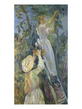 Picking Cherries, 1891 Giclee Print by Berthe Morisot