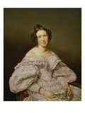 Portrait of Luise Loeffler (), Nee Feldmueller, 1836 Giclee Print by Ferdinand Georg Waldm&#252;ller