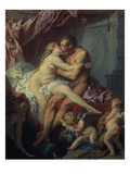 Hercules and Omphale, 1730 Art by Francois Boucher