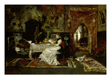 Parisian Interieur, 1877 Prints by Mihaly Munkacsy
