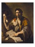 Ein Cynischer Philosoph. Gegen 1660 Print by Luca Giordano