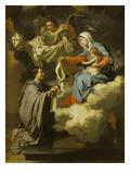 Die Hl.Jungfrau Uebergibt dem Hl.Norbert die Attribute Seines Ordens Giclee Print by Walthere Damery