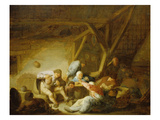 Peasants in an Interior Giclee Print by Adriaen Van Ostade