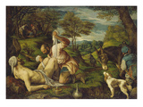 The Good Samaritan, about 1575/80 Giclee Print by  Bassano (Francesco da Ponte)