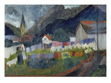 In the Village, 1910 Giclee Print by Marianne von Werefkin