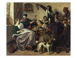 Cheerful Party (The Family of the Painter), about 1657 Giclee Print by Jan Havicksz. Steen