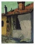 Zigeunerhuette Mit Ziege, um 1925 Giclee Print by Otto Mueller