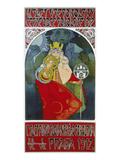 Poster for the 6th Meeting of the Czech Sokol-Union, Prague 1912 Giclée-Druck von Alphonse Mucha