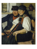 The Ill-Matched Couple, 1876/77 Giclee Print by Wilhelm Leibl