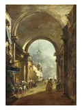 View Through an Archway Prints by Francesco Guardi