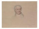 Portrait of Johann Wolfgang Von Goethe, 1828 Giclee Print by Joseph Karl Stieler