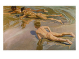 Nackte Knaben Am Strand Giclee Print by Joaquin Sorolla