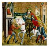 Altartafel Unbekannter Herkunft. Der Hl. Martin Und Der Bettler Giclee Print