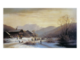 Winterlandschaft Giclee Print by Anton Doll