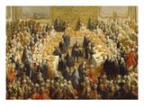 Banquet (Schoenbrunn). Detail Giclee Print by Martin II Mytens/ Meytens