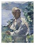 Self-Portrait in Urfeld at Lake Walchen, 1924 Giclee Print by Lovis Corinth