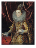 Portrait of Infanta Isabella Clara Eugenia of Spain Giclee Print by Juan Pantoja De La Cruz